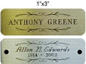 Urn Nameplate