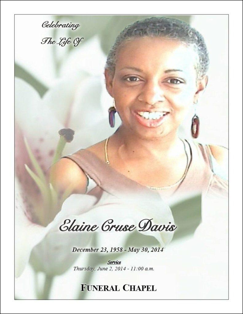 Premium Size Example  Funeral Programs Examples