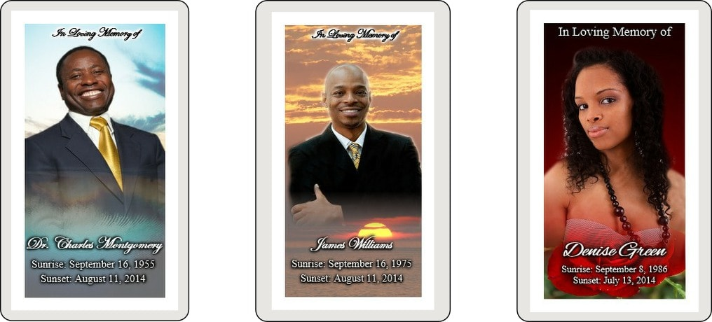 These prayer cards featuring a custom portrait of your loved one are a beautiful addition to a funeral mass, and are sure to become treasured keepsakes.