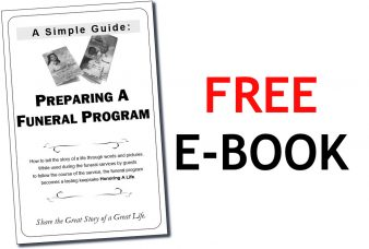 Preparing A Funeral Program - COVER 2