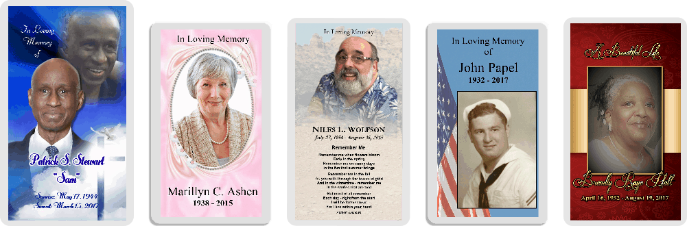 Professional Memorial Cards