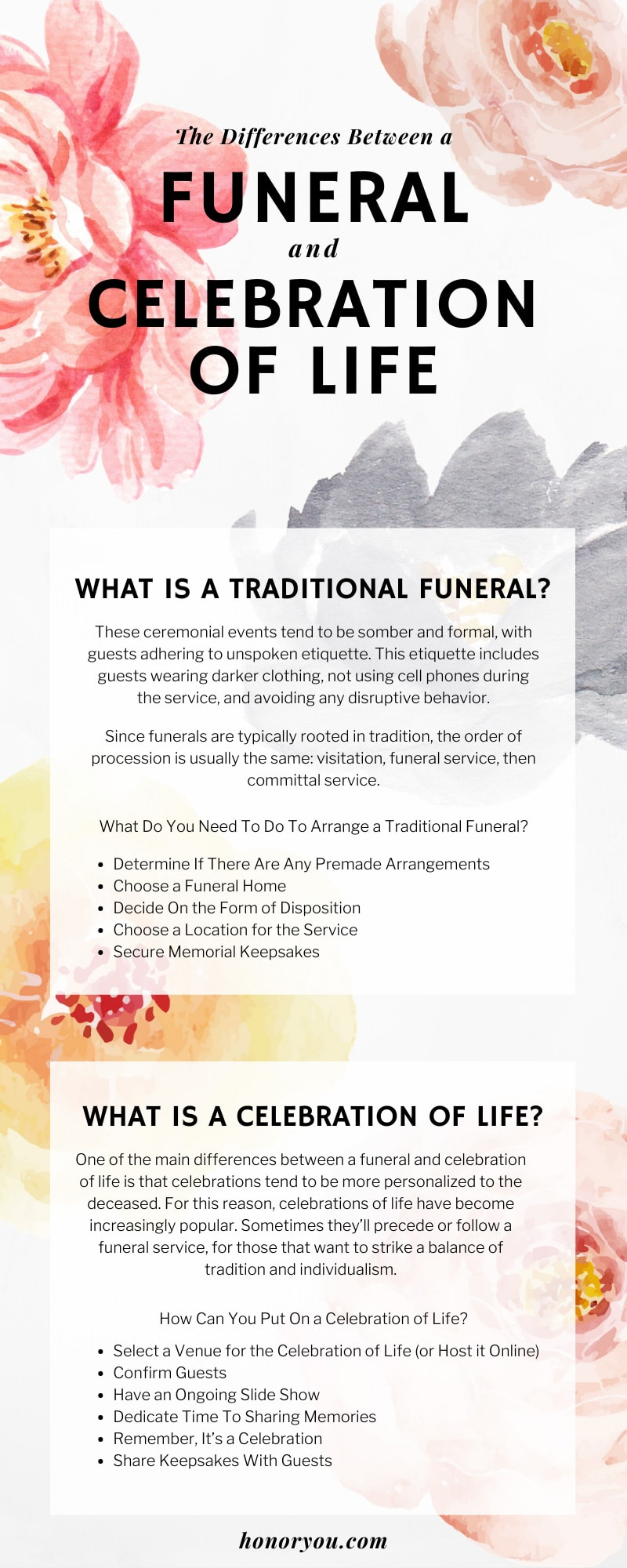 The Differences Between a Funeral and Celebration of Life