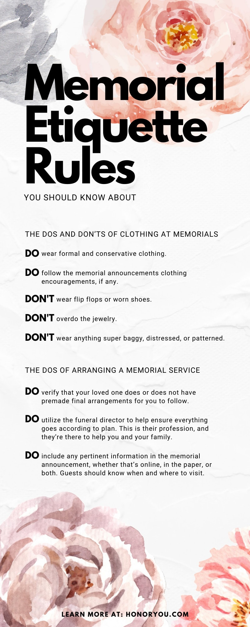 Memorial Etiquette Rules You Should Know About
