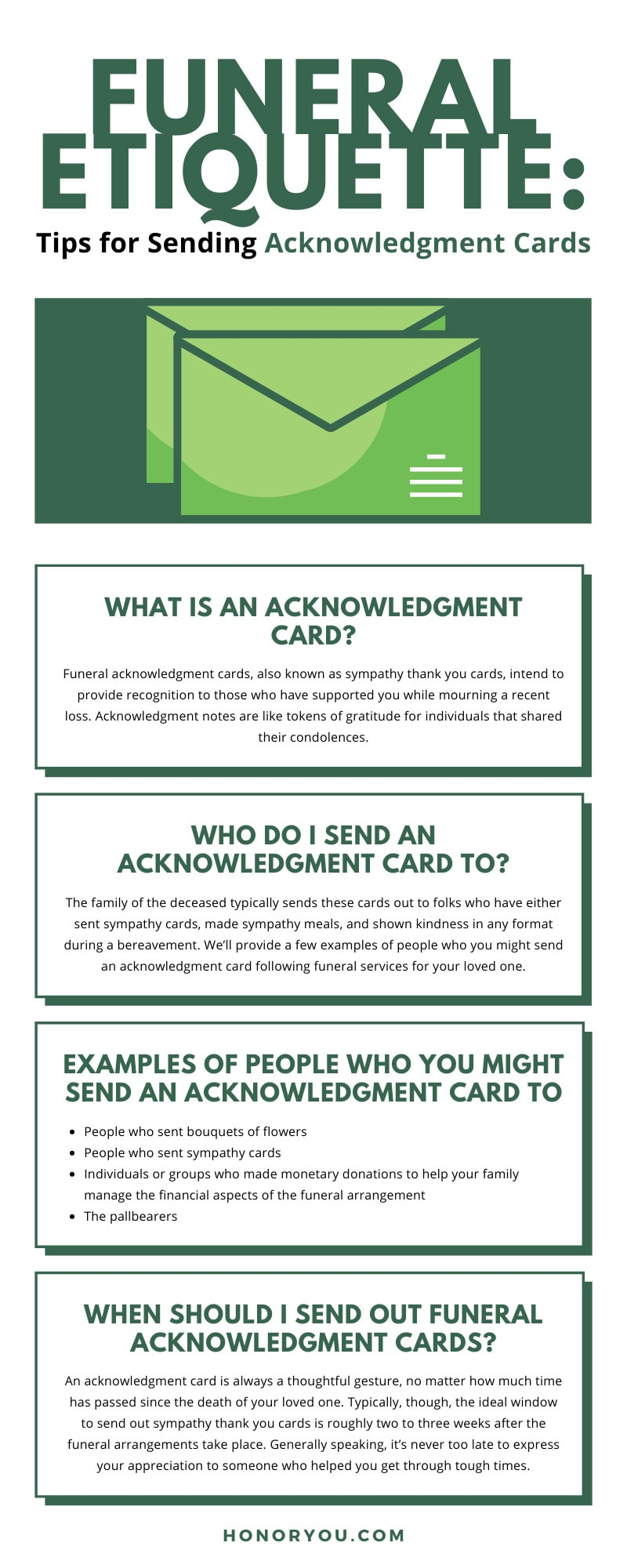 Funeral Etiquette: Tips for Sending Acknowledgment Cards